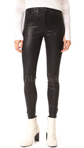 Glossy Leather Pants|BlackJack Leathers