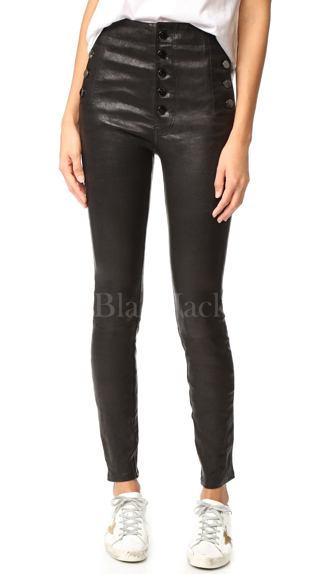 Stud Leather Pants