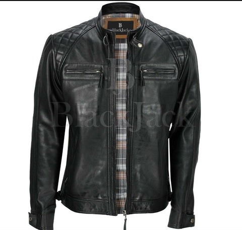 Fancy Inner Buffalo Leather Jacket|BlackJack Leathers