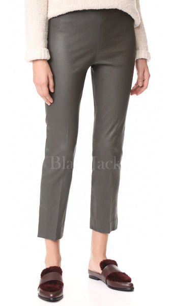 Silhouette Leather Cropped Leggings