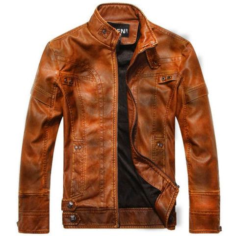Genuine Bikers Sheep Leather Jacket|BlackJack Leathers