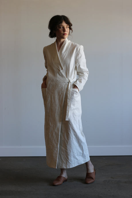 Leon | Linen in Ivory | MADE TO ORDER