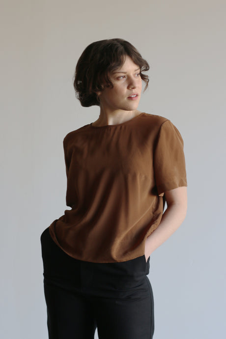 Lola | Silk in Coffee | MADE TO ORDER