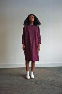 Moore | Cotton in Plum | MADE TO ORDER
