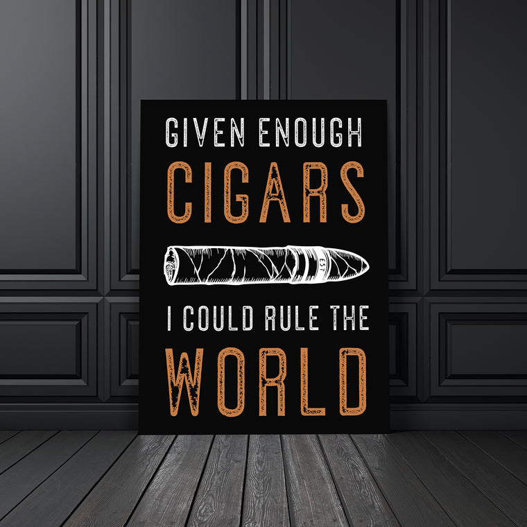 CIGAR LOVER CANVAS