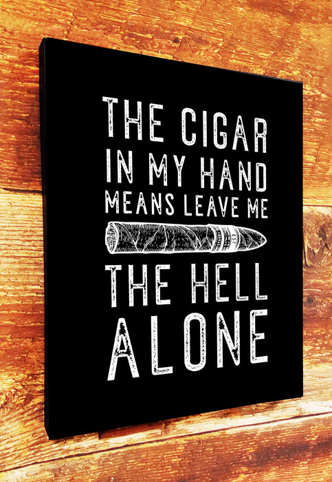 CIGAR IN HAND CANVAS (HELL VERSION)