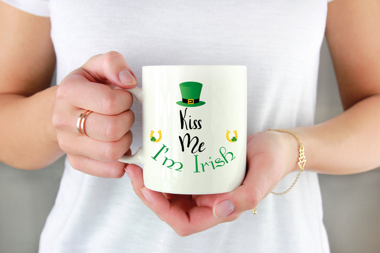 KISS ME I'M IRISH COFFEE MUG