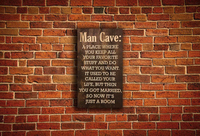 Man Cave Wood Pallet Sign