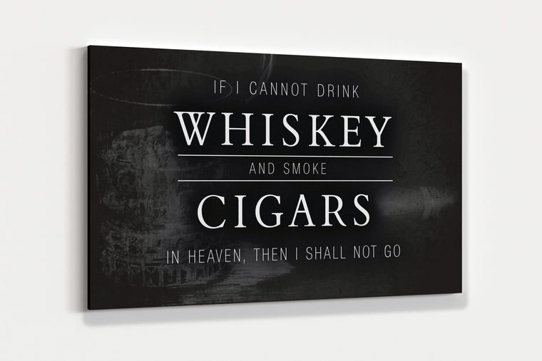 WHISKEY AND CIGARS ART PRINT