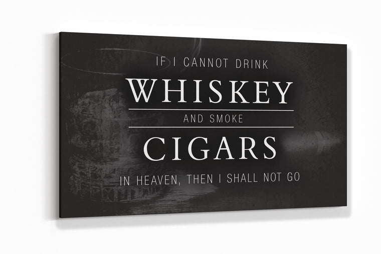 Whiskey and Cigars Canvas