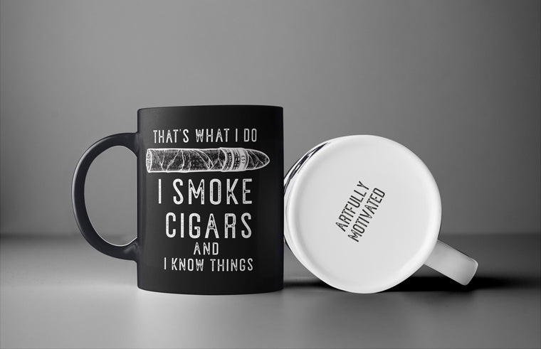 CIGAR SMOKER COFFEE MUG