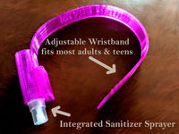 Crush Covid! Bracelet with integrated antimicrobial sprayer