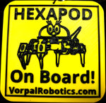 Hexapod On Board Sign with Suction Cup