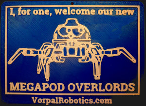 Overlord Meme Plaque With Suction Cup
