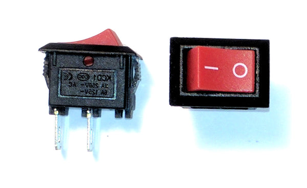 Two-Pack On/Off Rocker Switch 13mm x 9mm Mounting Hole