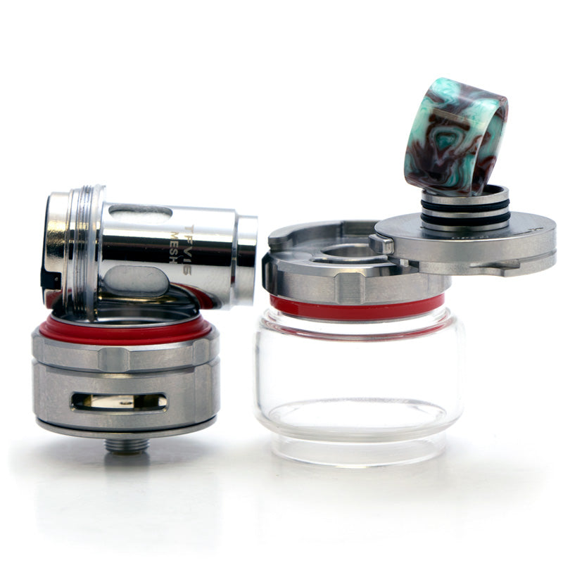 Disassembled SMOK TFV16 Sub-Ohm Tank Stainless Steel