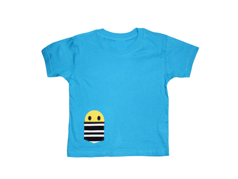 Kids Pocket Smiley T Shirt