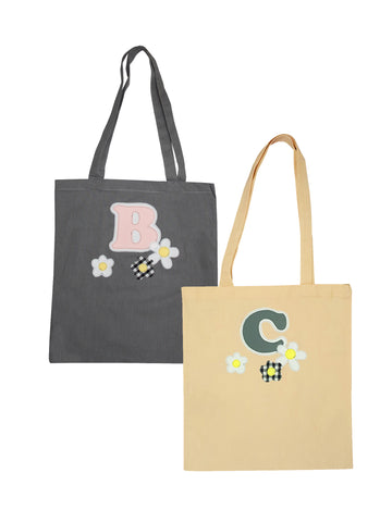 Custom Letter Tote Bags by Not For Ponies