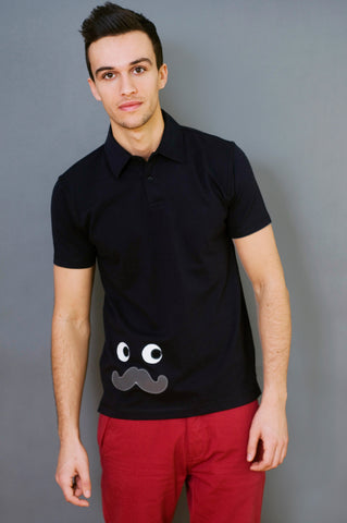 Moustache Polo Shirt