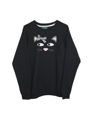 Women's Cute Kitten Sweatshirt by Not For Ponies
