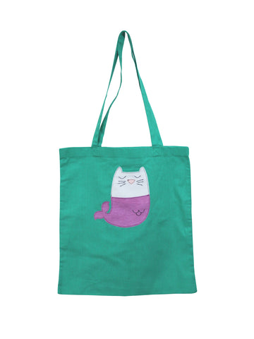 Mermaid Kitty Tote Bag by Not For Ponies