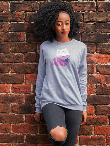 Women's Mermaid Kitty Sweatshirt by Not For Ponies