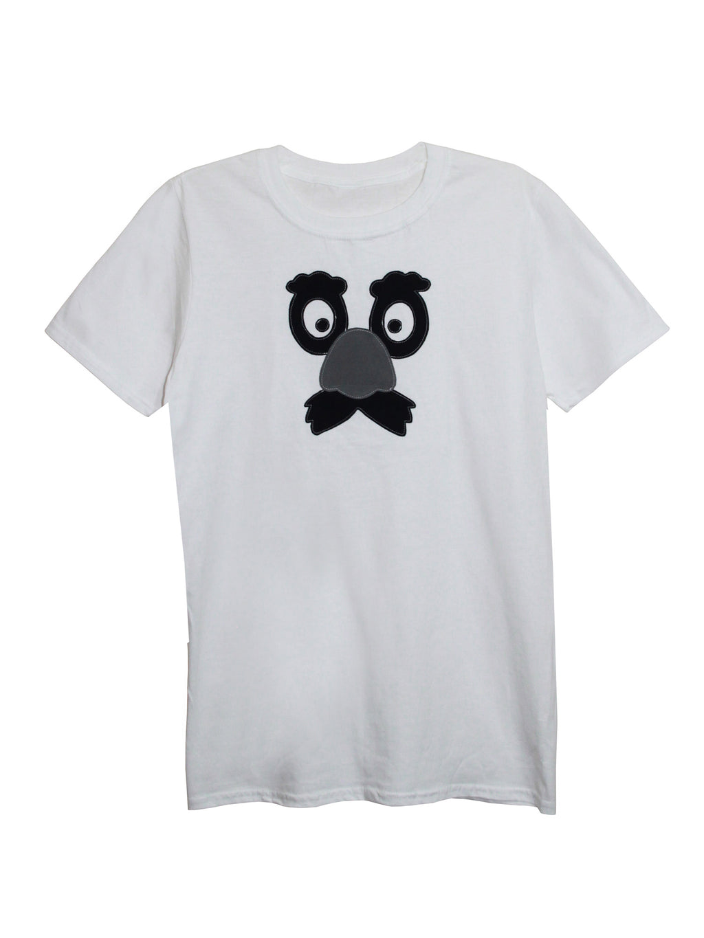 Men's White Grouchy Face T Shirt by Not For Ponies