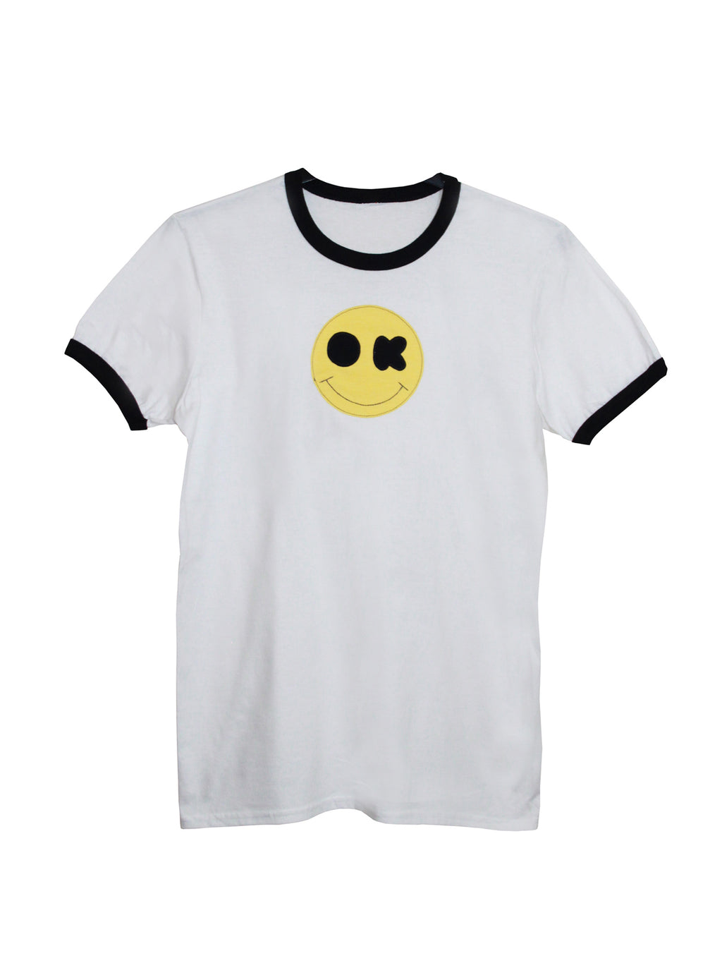 Men's White OK Smiley Face T Shirt by Not For Ponies