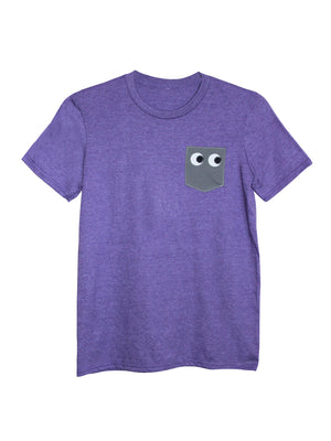 Men's Purple Pocket Eyes T Shirt by Not For Ponies