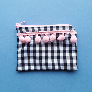 Gingham Pompom Purse by Not For Ponies
