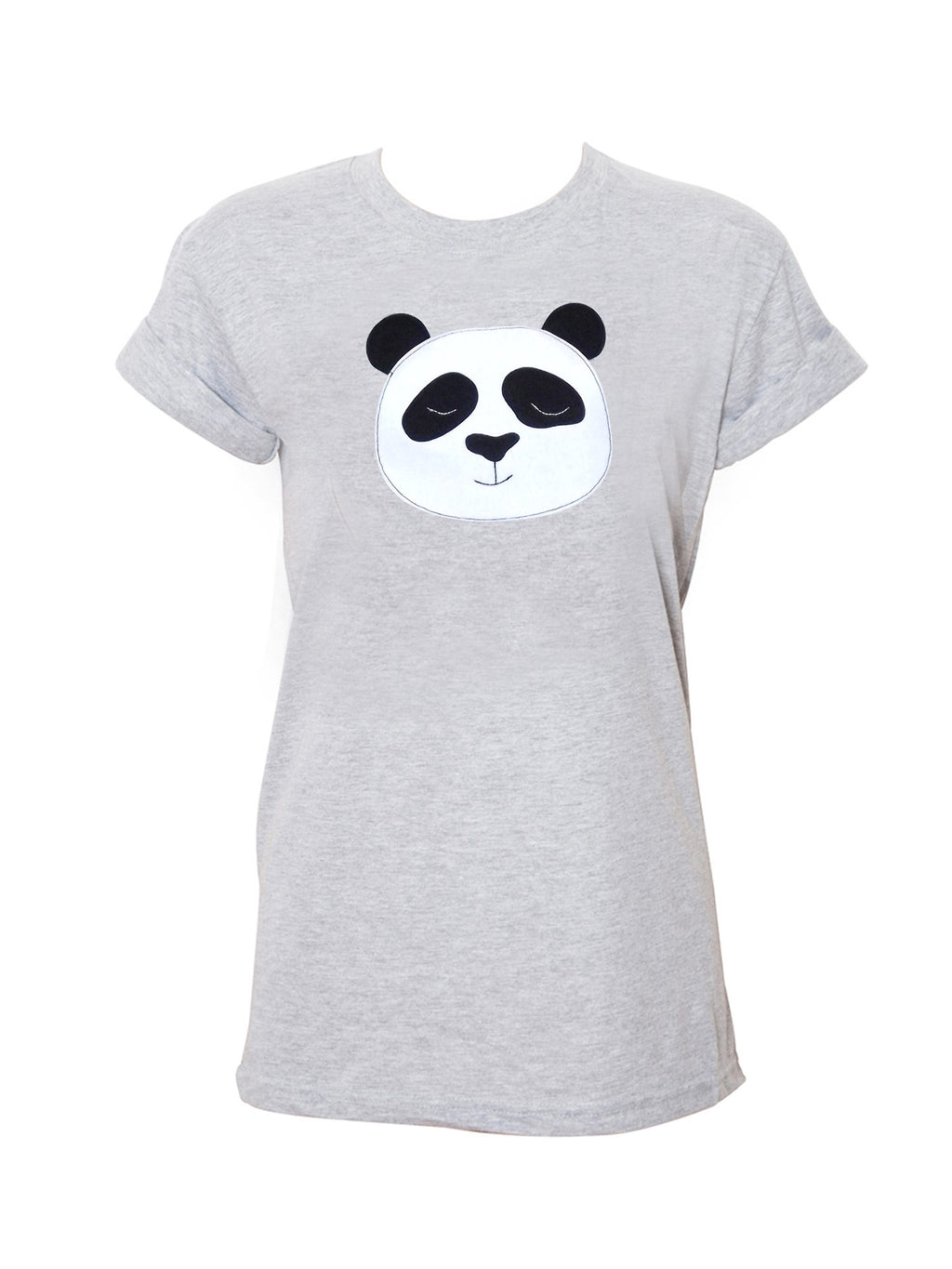Women's Grey Panda T Shirt by Not For Ponies