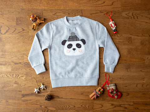 Kids Christmas Panda Sweatshirt