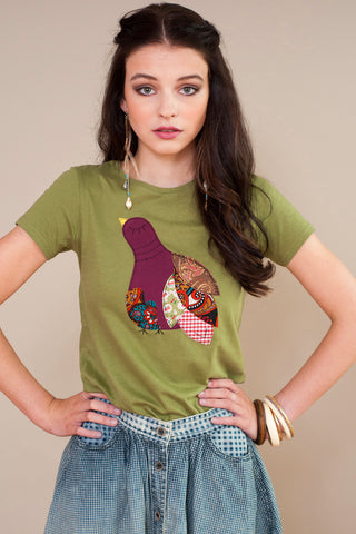 Patchwork Partridge T-shirt