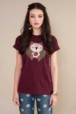 Patchwork Owl T-shirt