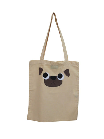 Fawn Pug Tote Bag by Not For Ponies