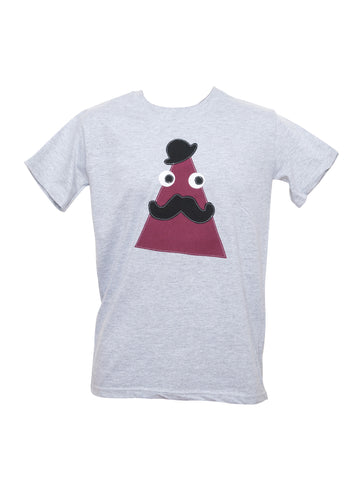Men's Grey Triangle T Shirt by Not For Ponies