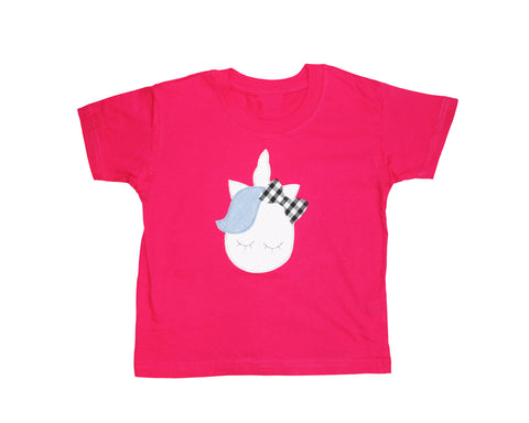 Kids Pink Unicorn T Shirt (Organic)