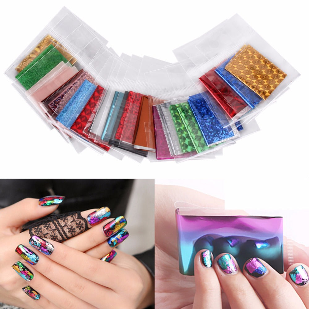 Foil nail art stickers viva la trend foil nail art stickers foil nail art stickers prinsesfo Gallery