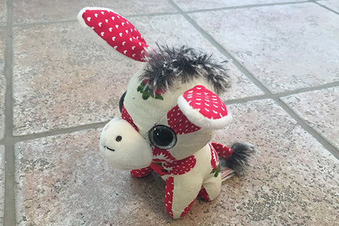 Donkey Teddy Bear (White/Red)