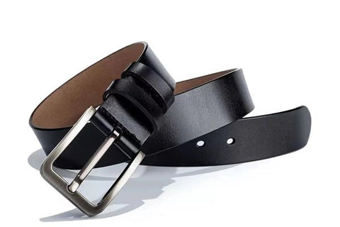 Men's Leather Belt (Black)