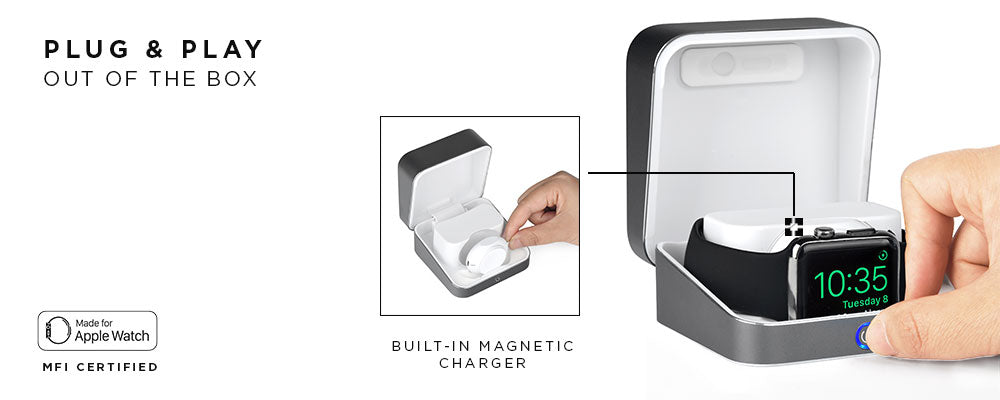 Battery case for Apple Watch