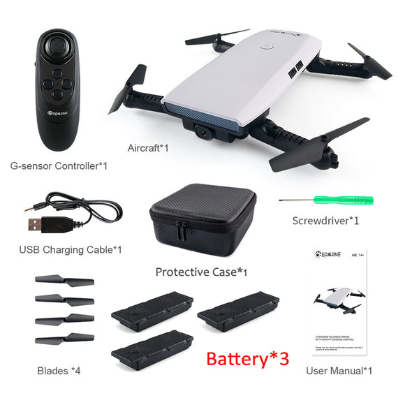 720P Selfie Drone With Gravity Sensor APP Control Altitude Hold RC Quadcopter