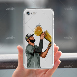ciciber basketball Cartoon Curry McGrady Kobe Bryant soft silicone phone cases cover for iphone 6 6S 7 8 plus 5S SE X Coque 1 2