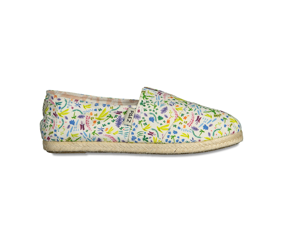 CLASSIC RAW PRINT FLOWERS WHITE/MULTICOLOR