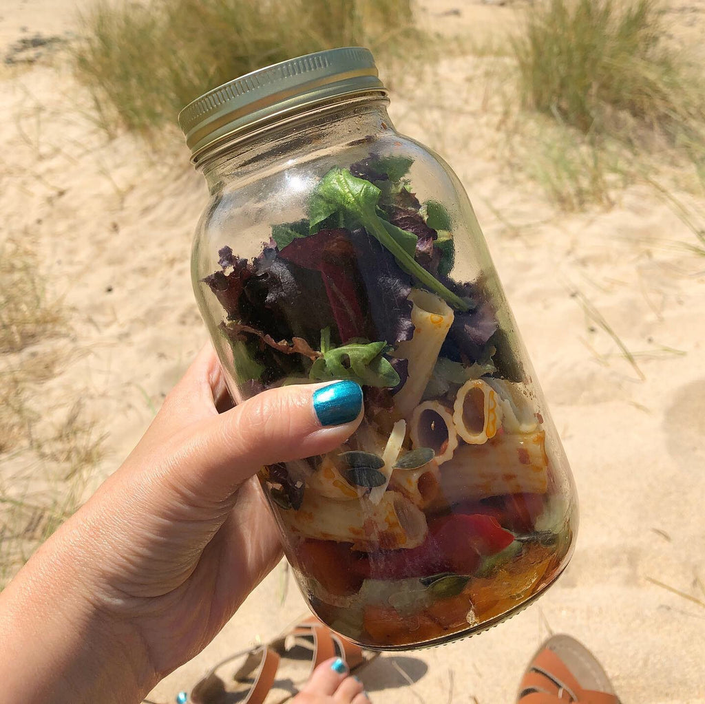 Mason Jar Layered Salad.