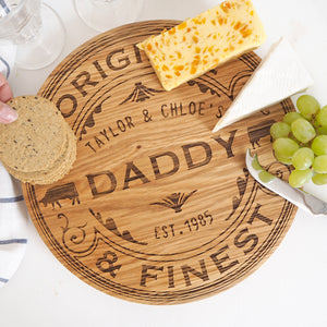 Camembert Wheel Solid Oak Cheese Board