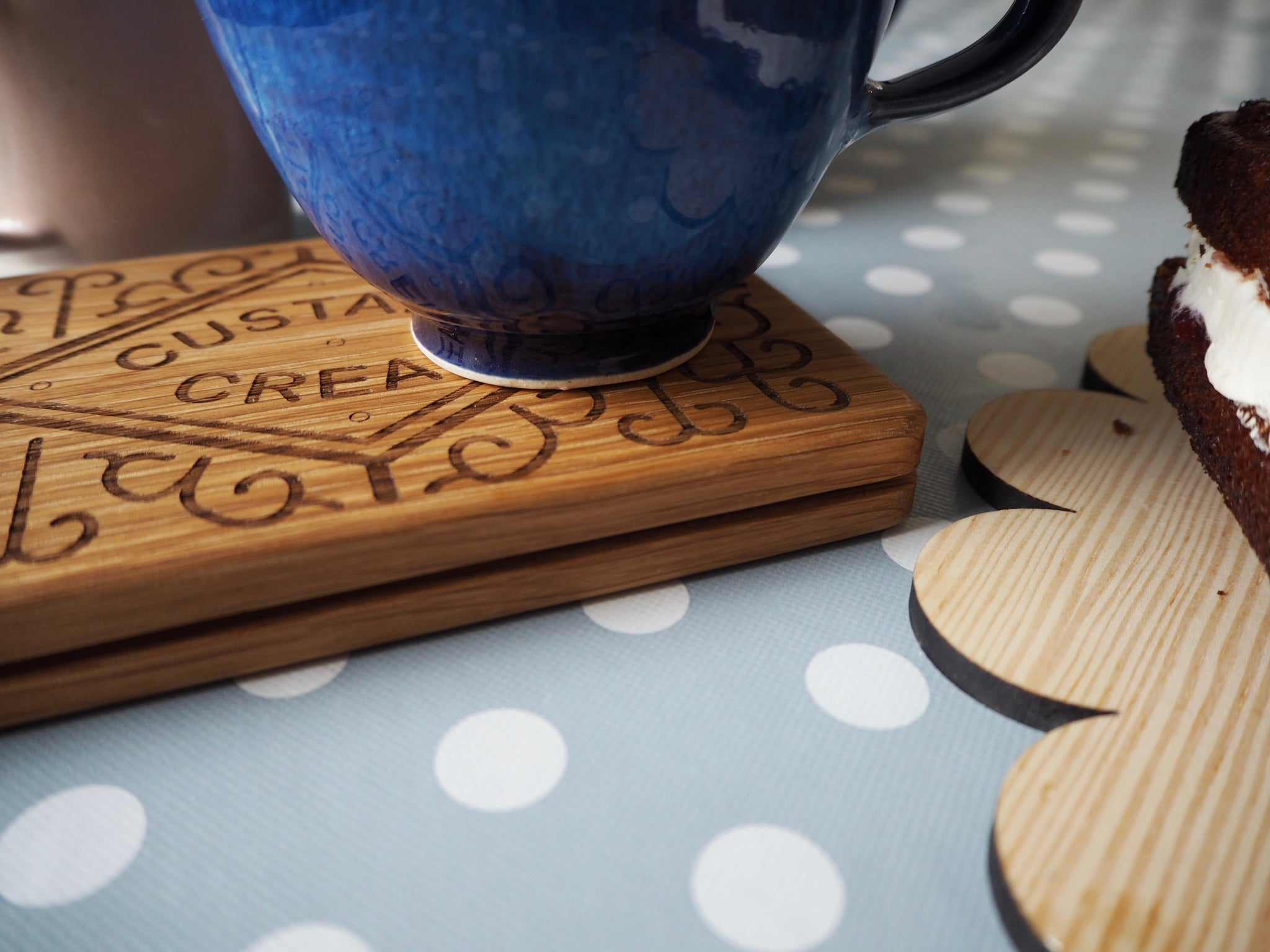 custard cream coaster