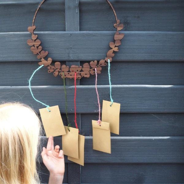 Wooden Advent Calendar Wreath