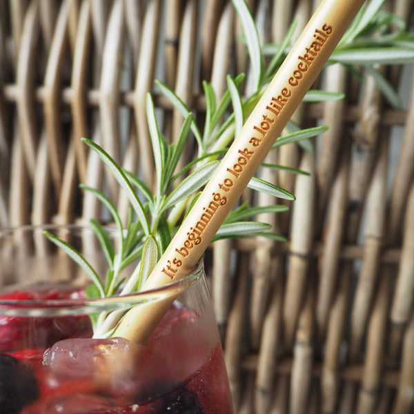 Personalised Bamboo Drinks Straw
