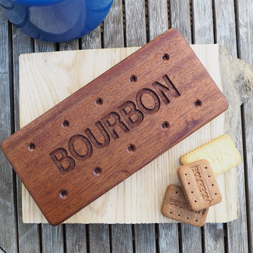 Bourbon Biscuit Wood Serving Board and Coaster